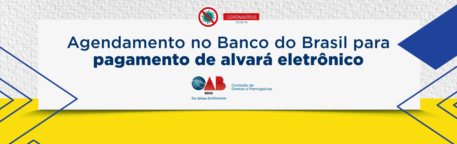 [Coronavírus: Agendamento no Banco do Brasil para pagamento de alvará eletrônico]